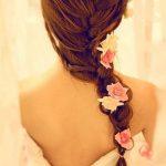 pembe stil güllü saç tokası