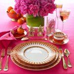 pembe temalı tabak dekorasyon modeli