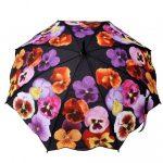 renkli çiçek figürlü şemsiye modeli