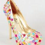renkli dore ayakkabı yeni model