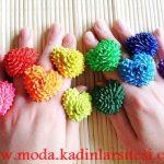 renkli kalpli yüzük modelleri