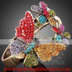 renkli kelebekli yüzük modeli