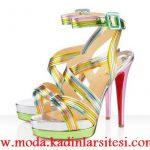 renkli platform ayakkabı modeli