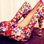 renkli taşlı ayakkabı yeni model