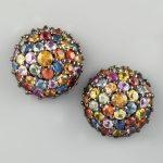 renkli taşlı küpe modeli