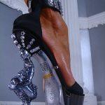 sütun topuklu ayakkabı modeli
