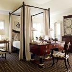 sade cibinlikli yatak odası modeli