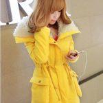 sarı kürklü kaban modeli