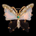 sedefli kelebekli broş modeli yeni