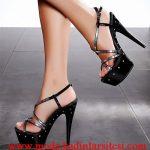 siyah aynalı ayakkabı modeli