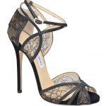 siyah danrelli simli ayakkabı modeli