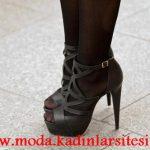 siyah deri ayakkabı modeli