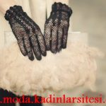 siyah file eldiven modeli