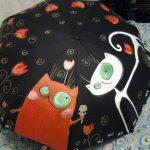 siyah kedili şemsiye modeli