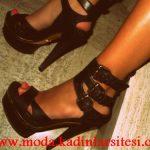 siyah kemerli ayakkabı modeli