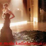 siyah kuyruklu gece elbisesi modeli