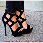 siyah nubuk ayakkabı modeli