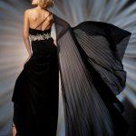 siyah straplez gece elbisesi modeli