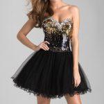 siyah straplez paytli gece elbisesi
