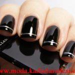 siyah tırnak süsleme modeli