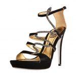 siyah yılan figürlü ayakkabı modeli