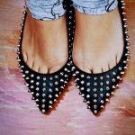 siyah zımbalı ayakkabı modeli