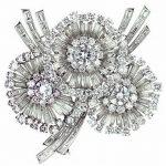 taşlı üçlü çiçek figürlü broş modeli