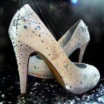 taşlı krem gelinlik ayakkabısı yeni