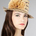 tasarım çiçek detaylı şapka modeli