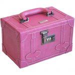 tasarım pembe makyaj çantası modeli yeni