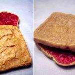 tost ekmeği şeklinde sabun modeli