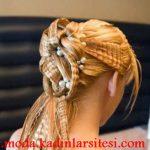 tostlu topuz saç modeli