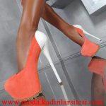 turuncu beyaz ayakkabı modeli
