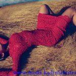 valentino kırmızı dantel gece elbisesi