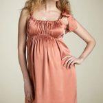 yavruağzı büzgülü hamile elbise modeli yeni
