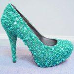 yeşil incili ayakkabı yeni model