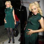 yeşil saten mini hamile elbisesi trend