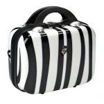 zebra desenli makyaj çantası yeni