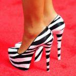 zebra desenli simli ayakkabı yeni model