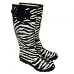 zebra desenli yağmurluk çizme modeli