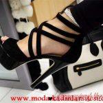çapraz bantlı ayakkabı modeli