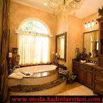 özel tasarım krem banyo modeli