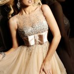 şampanya rengi gece elbise modeli