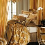şampanya rengi yatak örtüsü modeli