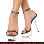 şeffaf platformlu ayakkabı modeli