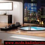 şehir manzaralı banyo modeli