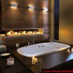 ahşap luxury banyo modeli