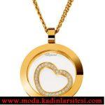 altın kalpli kolye ucu modeli