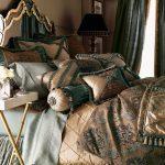 bej yeşil yatak örtüsü modeli
