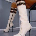 beyaz sade çizme modeli